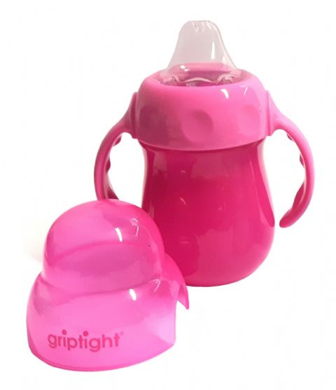 Griptight - Handled Sipper Trainer Cup - Pink